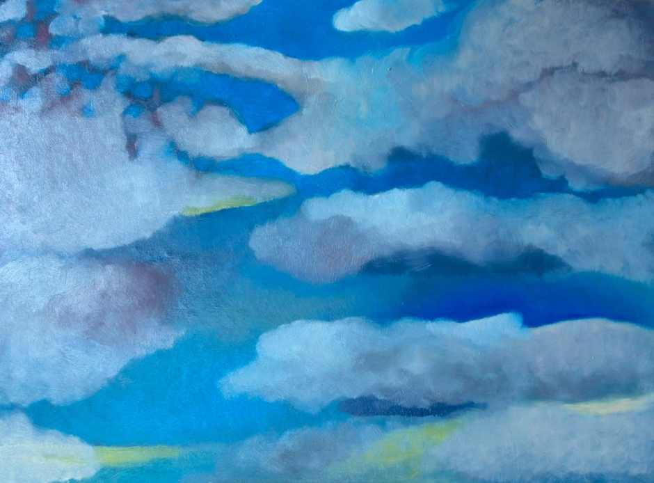sally Stoneman_In the Clouds_Oil on board_2015